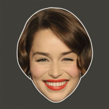 Cool Emilia Clarke Mask - Perfect for Halloween, Costume Party Mask, Masquerades, Parties, Festivals, Concerts - Jumbo Size Waterproof Laminated Mask