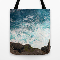 Rough Waters Tote Bag by Shiroshi