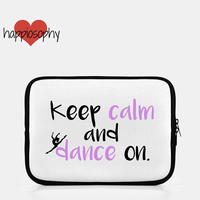 Dance iPad Sleeve, Dancer Gift, Keep Calm and Dance On, Dancer iPad Case, Tablet Case, Dance Gifts, Dancer Gift, Dance Studio, Ballet, Jazz