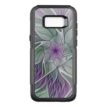 Flower Dream, Abstract Purple Green Fractal Art OtterBox Commuter Samsung Galaxy S8+ Case