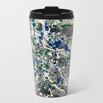 Revolving Positive Energy Metal Travel Mug by Artist CL