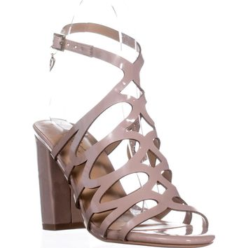 TS35 Kiarah Block-Heel Dress Sandals, Pale Mauve, 5 US