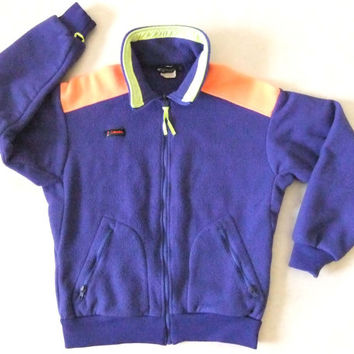 90s NeON FLEECE CoLUMBIA Jacket // Bright by BuddyBuddyVintage