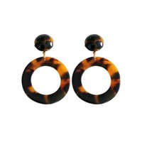 Tortoise Earrings - Round