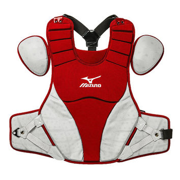"Mizuno Samurai 15"" Chest Protector Intermediate - Red Gray"
