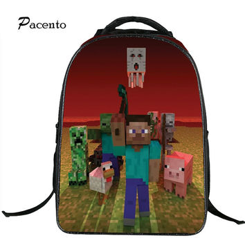 Backpacks for Teenage Hot Game MineCraft Cartoon Backpack Boys School Bags Girls Print School Bags for Boy Mochila Infantil