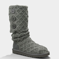 Ugg Lattice Cardy Womens Boots Charcoal  In Sizes