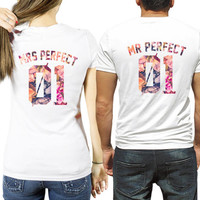 Couple shirts Mr Perfect Mrs Perfect, custom numbers, couple t shirts, Couple shirts anniversary gift ideas, st valentines
