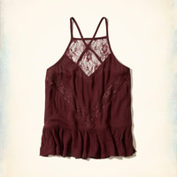 Girls Ruffle Hem Lace Tank | Girls New Arrivals | HollisterCo.com