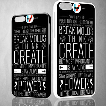 twenty one pilots quote Z0440 iPhone 4S 5S 5C 6 6Plus, iPod 4 5, LG G2 G3, Sony Z2 Case