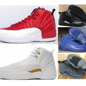 Beauty Ticks Air Jordan Retro 12 Men Women Basketball Shoes 12s Ovo White The Master 12 French Blue Playoffs Red Suede Wolf Grey Sneakers With Beauty Ticks Shoes Box