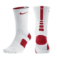 Nike Elite Crew Socks - White/Red