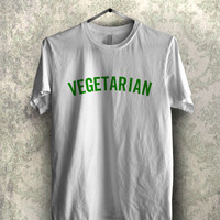 Vegetarian in Green  - 1nn Unisex Tees For Man And Woman / T-Shirts / Custom T-Shirts / Tee / T-Shirt