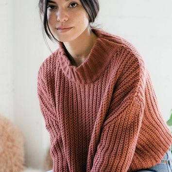 Georgia Knit Sweater - Brick
