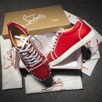 PEAPUX5 Cl Christian Louboutin Low Style #2079 Sneakers Fashion Shoes