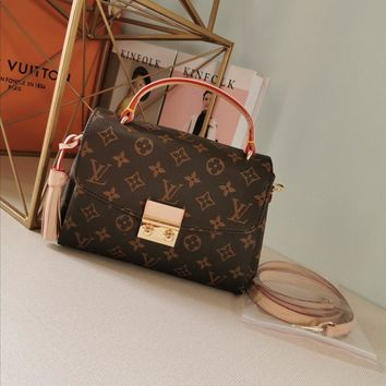 Kuyou Gb29726 Lv Louis Vuitto Damier Azur Brown Canvas Handbags Top Handles Croisette N41581 25¡Á17¡Á9.5cm