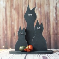 Primitive Black Cat, Halloween Decor