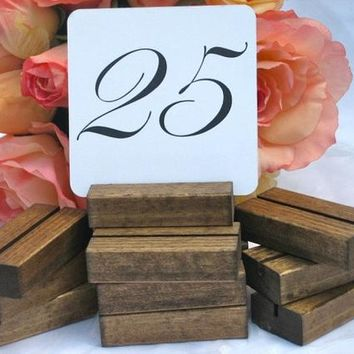 Table Number Holders, Rustic Table Number Holders (Set of 25) On Sale