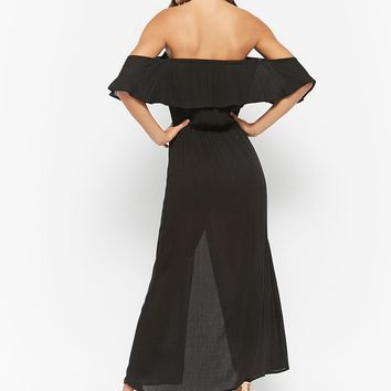 Flounce Off-the-Shoulder Jumpsuit