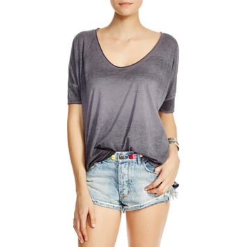 Free People Womens Saturn Heathered Illusion Casual Top
