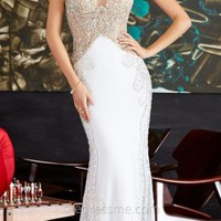 Beaded Illusion Jersey Prom Dresses by Jovani Exclusive Collection for eDressMe