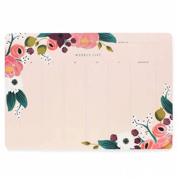 Rifle Paper Weekly Desk Pad