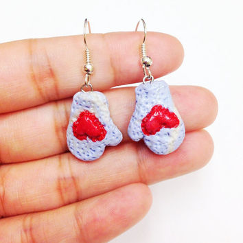 Valentines gift for girlfriend, polymer clay earrings, cute earrings, heart earrings, handmade jewelry, cute jewelry