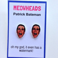 Patrick Bateman Christian Bale American Psycho Stud Earrings