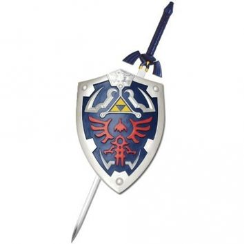 THE Legend of Zelda Real Master Sword and Shield Set Costume Link Hylian