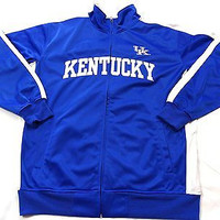 University of Kentucky Wildcats Tricot Side Panel Full Zip Track Jacket Size XLT
