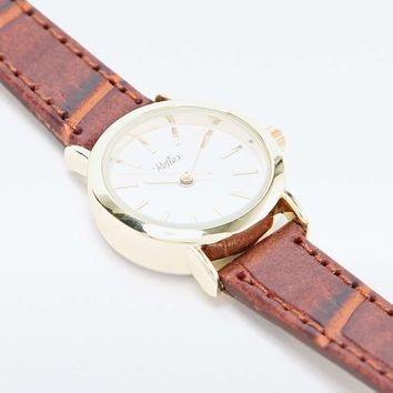 Reflex Croc Strap Watch in Tan - Urban Outfitters