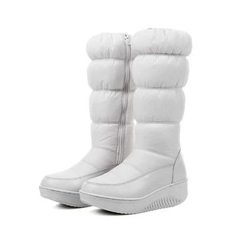 2017 Winter Warm Women think Over-the-knee Zip Snow Boots Rount Toe Wedge heels platform Zipper boot Women's winter boots.HX-88