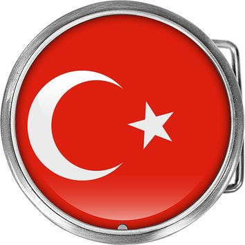 Turkey Flag Belt Buckle
