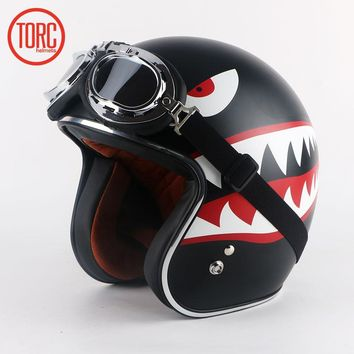 TORC Motocycle Open-Face Classic Vintage Retro Motorcycle Helmets