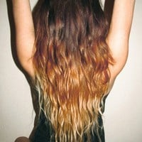 wavy ombre hair tumblr - Google Search