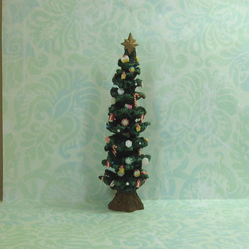 Dollhouse Miniature Christmas Tree with Candy Ornaments