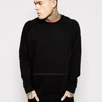 ASOS | ASOS Oversized Sweatshirt With Zip at ASOS