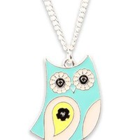 necklace with multi color bird charm - debshops.com