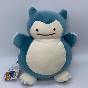 "s Ditto Transform into Snorlax Plush Soft Toy Doll Warm Hands Bag 13""Kawaii Pokemon go  AT_89_9"