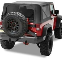 HighRock 4x4™ Rear Bumper with Tire Carrier   Jeep Parts and Accessories   Quadratec