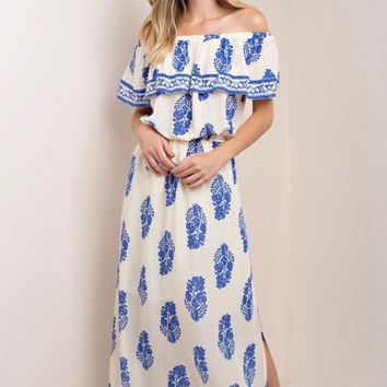 Blue Willow Maxi Dress