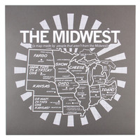 Midwest Map Poster (Gray)