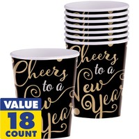 Cheers to a New Year Cups 16ct - Modern Celebration
