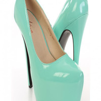 Mint Patent Faux Leather Pump