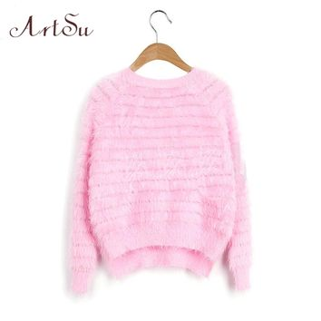 New 2015 Winter Free Shipping 8 Colors Crew Neck Warm Winter Women Mohair Sweater Pullover Solid Women Sweaters EPSW80016