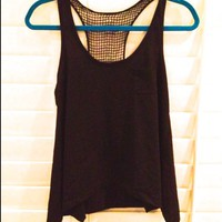 Crotchet Tank Top with Pocket