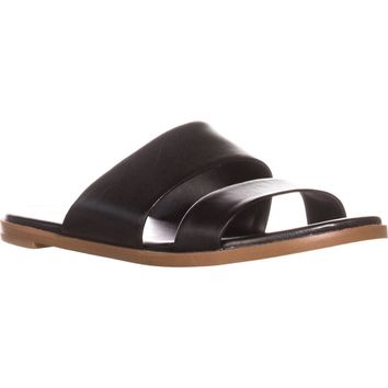 Cole Haan Anica Flat Slide Sandals, Black, 8 US