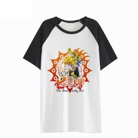 Anime T-shirt graphics New The Seven Deadly Sins T-shirt Anime Meliodas Cosplay T Shirt Casual Men Women Tops Tees AT_56_4