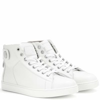 Justin high-top leather sneakers
