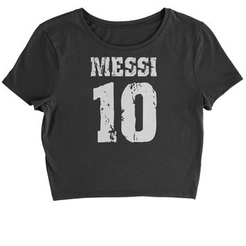 Messi 10 Football Cropped T-Shirt